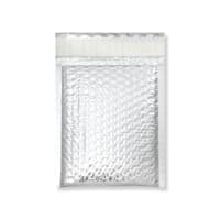 180x140mm SILVER METALLIC GLOSS BUBBLE BAGS