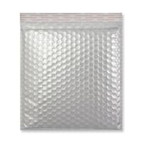 230MM SQUARE GLOSS METALLIC SILVER PADDED ENVELOPES
