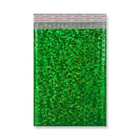 C5 + METALLIC GREEN HOLOGRAPHIC PADDED ENVELOPES (250 x 180MM)