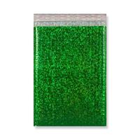 C4 METALLIC GREEN HOLOGRAPHIC PADDED ENVELOPES (324 x 230MM)