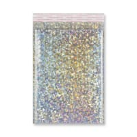 C4 METALLIC SILVER HOLOGRAPHIC PADDED ENVELOPES (324 x 230MM)