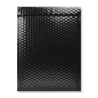 340 x 240mm BLACK GLOSS METALLIC BUBBLE BAGS