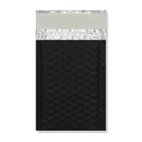 145 x 90mm MATT METALLIC BLACK PADDED ENVELOPES