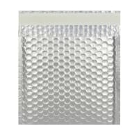 165MM SQUARE MATT METALLIC SILVER PADDED ENVELOPES