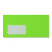 DL NEON GREEN WINDOW ENVELOPES