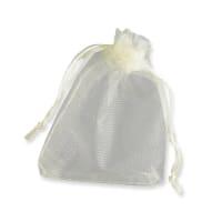 90 x 70mm MILK WHITE ORGANZA BAGS