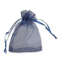 90 x 70mm NAVY BLUE ORGANZA BAGS