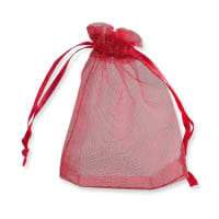 90 x 70mm RED ORGANZA BAGS
