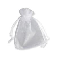 90 x 70mm WHITE ORGANZA BAGS