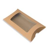 162 x 114 + 35MM C6 MANILLA KRAFT WINDOW PILLOW BOXES