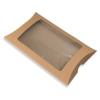 229 x 162 + 35MM C5 MANILLA KRAFT WINDOW PILLOW BOXES