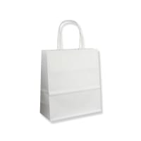 190x80x210mm WHITE TWIST HANDLED PAPER BAGS