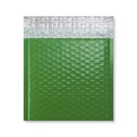 165 x 165mm GLOSS GREEN PADDED BUBBLE ENVELOPES