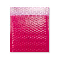 165 x 165mm GLOSS PINK PADDED BUBBLE ENVELOPES