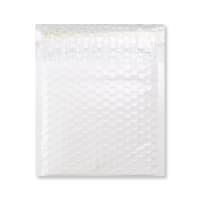 165 x 165mm GLOSS WHITE PADDED BUBBLE ENVELOPES