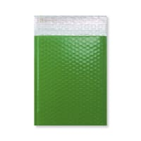 C5 + GLOSS GREEN PADDED BUBBLE ENVELOPES (250 x 180mm)