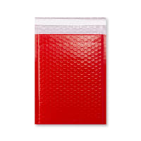 C5 + GLOSS RED PADDED BUBBLE ENVELOPES (250 x 180mm)