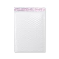 C5 + GLOSS WHITE PADDED BUBBLE ENVELOPES (250 x 180mm)