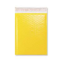 C5 + GLOSS YELLOW PADDED BUBBLE ENVELOPES (250 x 180mm)