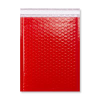 340 x 240mm GLOSS RED PADDED BUBBLE ENVELOPES