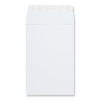 254 x 178mm WHITE GUSSET ENVELOPES 180GSM