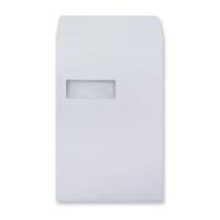 C4 WHITE GUSSET WINDOW ENVELOPES 180GSM