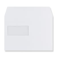 C5 WHITE WINDOW 180GSM PEEL AND SEAL ENVELOPES