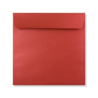 170 x 170MM CARDINAL RED PEARLESCENT ENVELOPES