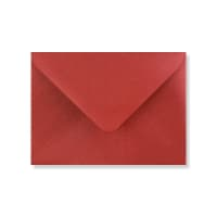C7 CARDINAL RED PEARLESCENT ENVELOPES