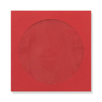 126 x 126mm DARK RED CD WINDOW ENVELOPES