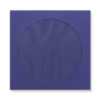 126 x 126mm NAVY BLUE CD WINDOW ENVELOPES
