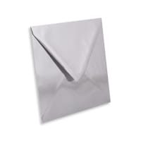 SILVER MIRROR 160mm SQUARE ENVELOPES 120GSM