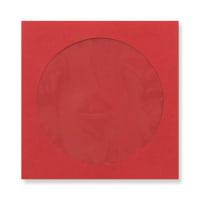 DARK RED 85mm SQUARE MINI CD ENVELOPES