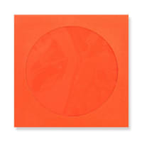 85 x 85mm ORANGE MINI CD WINDOW ENVELOPES