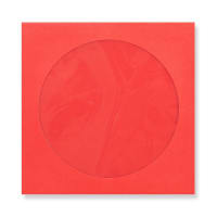 85 x 85mm RED MINI CD WINDOW ENVELOPES