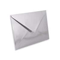 C5 SILVER MIRROR ENVELOPES 120GSM