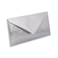 DL SILVER MIRROR ENVELOPES 120GSM