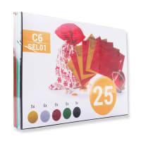 C6 FESTIVE ASSORTED ENVELOPES (PACK OF 25)