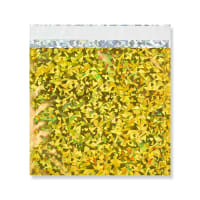 165 x 165MM GOLD HOLOGRAPHIC FOIL BAGS