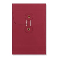 C6 RED GUSSET STRING & WASHER ENVELOPES 180GSM