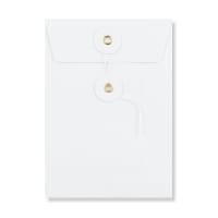 C6 WHITE STRING & WASHER ENVELOPES 180GSM