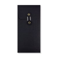 DL STRING & WASHER BLACK GUSSET ENVELOPES