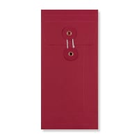 DL RED GUSSET STRING & WASHER ENVELOPES 180GSM