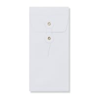 DL WHITE GUSSET STRING & WASHER ENVELOPES 180GSM