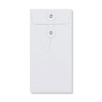 DL WHITE STRING & WASHER ENVELOPES 180GSM