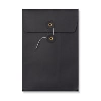 C5 BLACK GUSSET STRING & WASHER ENVELOPES 180GSM