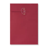 C4 RED GUSSET STRING & WASHER ENVELOPES 180GSM