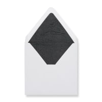160 x 160mm White Envelopes Lined With Black Paper