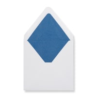 160 x 160mm White Envelopes Lined With Blue Paper