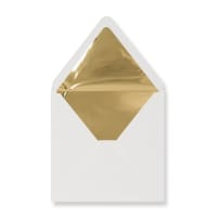 160 x 160mm Ivory Envelopes Lined With Gold Foil Paper